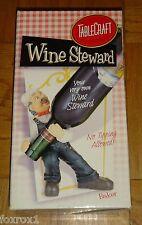 Wine Stewart By Table Craft Bottle Holder Waiter Figurine Restaurant Top Nib New