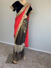 USA Indian wedding wear 1 minute readymade saree blouse designer bollywood sari