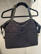 Pre-owned Black Quilted Tory Burch Diaper Bag