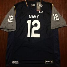 NWT Mens Under Armour navy College Military Football Jersey New Size Xl