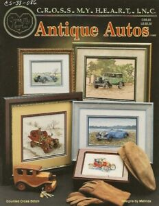 Antique Autos Cross Stitch Booklet - Cross My Heart