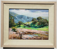 IRWIN ZELLER (American 1945-2004) Original SIGNED California Landscape OIL PAINT
