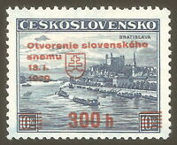 DR Nazi 3rd Reich Rare WW2 '1939 Overprint first Nazi Stamp in Occupation Czech