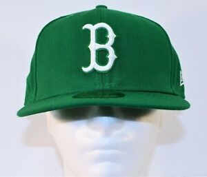 New Era 59FIFTY MLB Boston Red Sox St Patrick Day Green Fitted Hat Cap 7 3/8