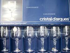 Cristal d'arques coffret de 6 verres a vin modele Matignon