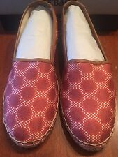 NIB SEBAGO DARIEN SLIP ON RED CANVAS PRINT TOILE AWESOME SHOES - 11M