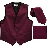 "New Men/'s Tuxedo Vest Vertical Stripes 2.5/"" Skinny Necktie party Emerald Green"