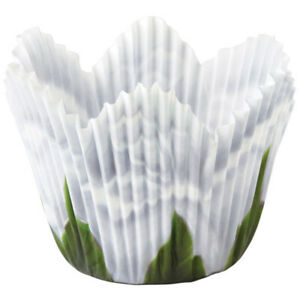 Wilton White Rose Petal Baking Cups - 24 pcs