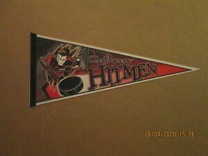 WHL Calgary Hitmen Vintage Circa 1990's Team Logo Hockey Pennant
