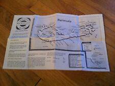 1994 Norwegian Cruise Line Ship Bermuda Island Local Information Brochure Map