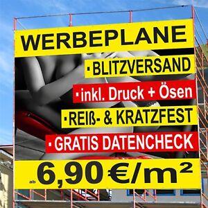 Banner oder Aufkleber BELEGTE BRÖTCHEN HIER PVC-Banner Spanntransparent Semmeln
