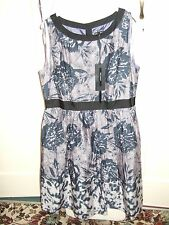 BNWT STUNNING BLUE FIFTIES-STYLE DRESS 18 M&S EXCEL COND *REDUCED* WEDDING RACES
