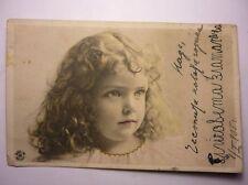 Antique Bulgarian Postcard Young Girl Portrait 1905