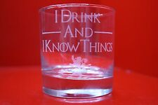 Laser Engraved Tumbler Game Of Thrones I Drink And I Know Things Lannister Lion