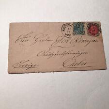 1883 Vintage Denmark Cover with Letter