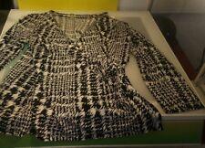 Anne Klein Women's funky top shirt blouse size XL good condition black white