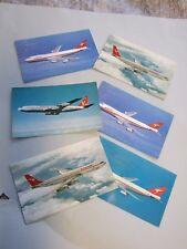 Vintage 6x Aeroplanes Postcards Qantas Airways Boeing 1970's Bargains