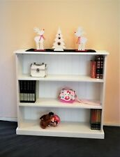 3x3 Wood Bookcase in White Children Furniture Home Office Decorate