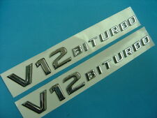 Chrome * V12 BITURBO * Badge Emblem Mercedes W221 AMG S65 S63 CL65 G65 BMW 760Li