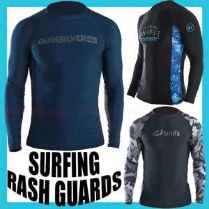 MEN'S RASH GUARDS BEACH LONG SLEEVES SURF SNORKELING SWIM TOP SHIRT WATER SPORTS