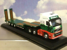 OXFORD 1/76 VOLVO FH3 3 AXLE CAB/NOTEBOOM SEMI LOW LOADER TRAILER EDDIE STOBART