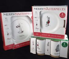 Merry Masterpieces International American Plates Mugs Service for 4