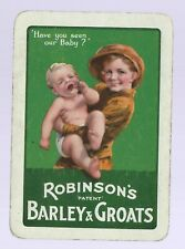 Vintage Playing Swap Card    June Clearance OLD WIDE Robinson's Barley & Groats