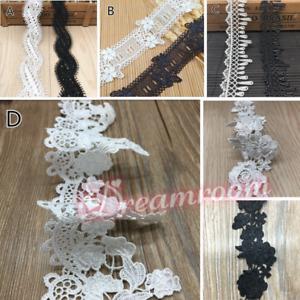 1yd Lace Trim Ribbon Crocheted Wedding Applique Dress Sewing Decor Crafts BF335