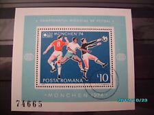 schöner Fussballblock von der WM 1974 in München gestempelt
