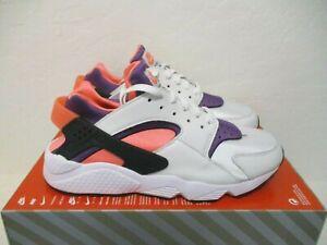 Nike Air Huarache Men's Shoes White/Purple-Bright Mango DD1068-101 Size 10.5