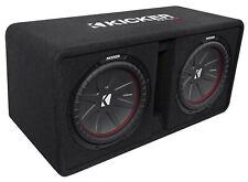 """Kicker 43DCWR122 COMPR12 2000W Dual 12"""" Car Subwoofers+Vented Sub Box Enclosure"""