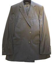 "$2500 Hugo Boss Selection Tailored Line Black Suit 40R Jacket Trouser 34"" Waist"