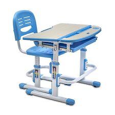 Children Student Desk and Chair Set Kids School Workstation Height Adjustable