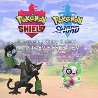 POKEMON SWORD/SHEILD 6IV COCO MOVIE EVENT NON SHINY ZARUDE + CELEBI