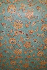 Multi-Color Jacobean Floral on Turquoise Faux Wallpaper by Fine Decor 98344