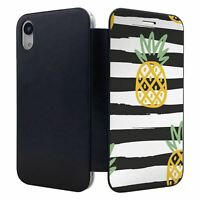iPhone XR Flip Wallet Case Cover Pineapple Fruit Pattern - S10128