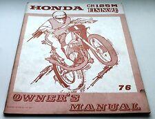 Officina Manuale istruzioni di riparazione, shop owner's manual, Honda CR 125 M, 1976