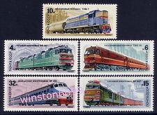 1982 Russia CCCP Railway Locomotive Trains 5v Stamps Mint NH