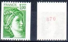 Roulette N° ROUGE. SABINE 1,00F vert. ref. 1981Aa. cote 4,00€