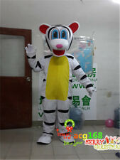 White Tiger Mascot Costume Adult Halloween Cartoon Suit Party Animal Outfit 2018