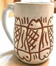 Nwt New Seaside Collection White Mug with Fish Pattern