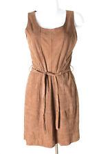 Paisley Park Kleid Dress Robe Lederkleid Leder Damen Gr. DE 38 in Braun