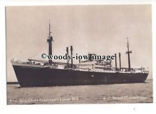 cd0203 - Dutch Royal Interocean Lines Cargo Ship - Straat Mozambique - postcard