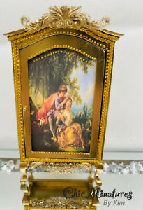 Dolls House Gold Amoire Cabinet 1/12 Scale,