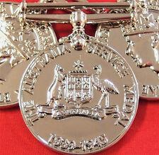 *10* x Ww2 1939/45 Australian Service Medal Ribbon Replica Medal Mounting Anzac
