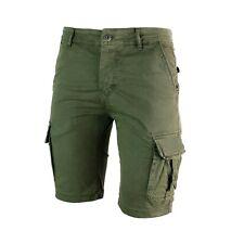 Pantaloncini da uomo cargo bermuda con tasche pantaloni corti Verde Nero Senape