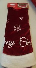 "Trim A Home Tree Skirt 48"" Merry Christmas Red & White"