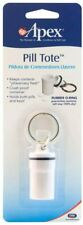 NEW Apex Pill Tote Key Chain Portable Convenient Easy Open! Keep RXs Close by!