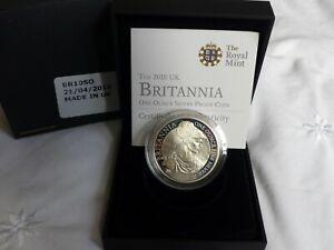 2010 SILVER PROOF BRITANNIA £2 BOXED & CERT. MINT CONDITION LAST ONE