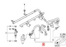 Genuine Injection Pipe BMW E39 M5 Sedan 13537830814